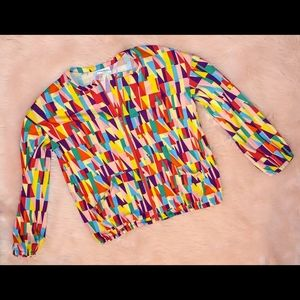 Lularoe Monroe colorful shapes jacket